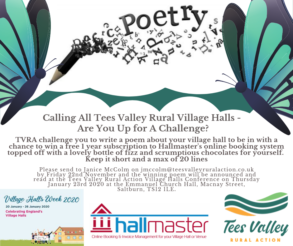 Calling All Tees Valley Rural Village Halls – Are You Up For A Challenge?
