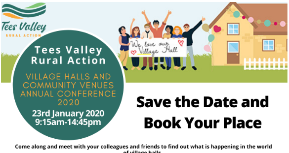 TVRA Village Halls and Community Venue January 2020 Conference SAVE the Date – Book Now to Avoid Disappointment
