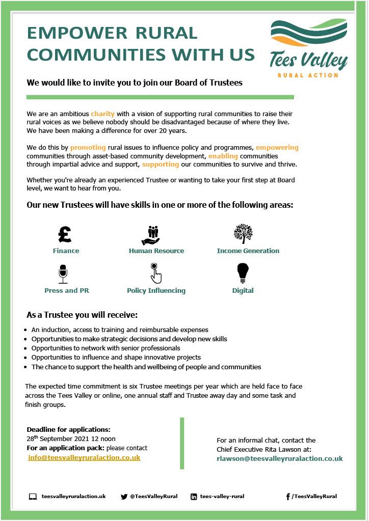 Trustees Recruitment Advert